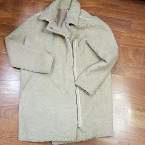 Free people sherpa plush ivory  jacket coat.Smal